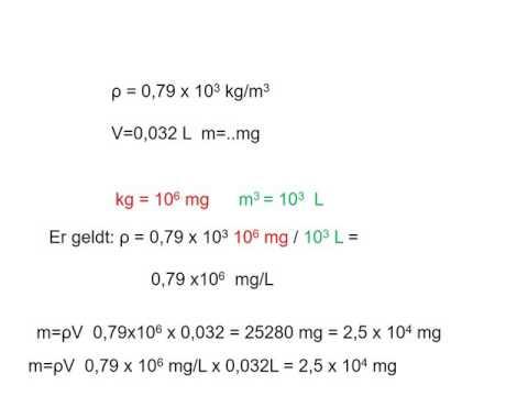 Rekenen 3 Dichtheid  en wat betekent de -3 bij kg.m-3?