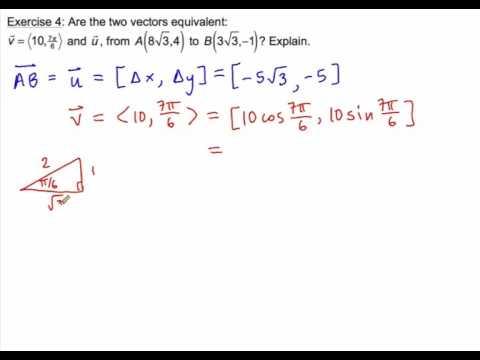 1.1 Vectors Ex. 3,4
