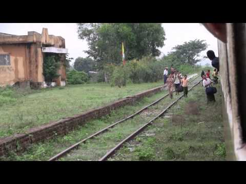 Train journey from Yagon to Bagan, Myanmar
