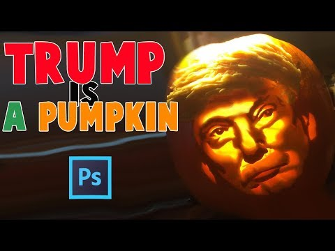 THE TRUMP PUMPKIN?!?! | photoshop fun