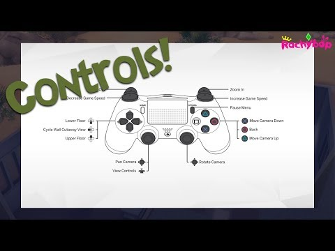The Sims 4 Playstation 4 CONTROLS [for each section]