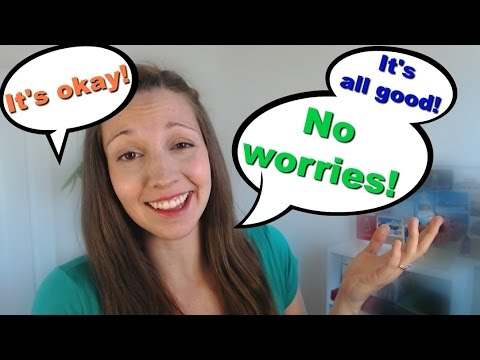 How to Respond to Sorry: Back to English Basics Series