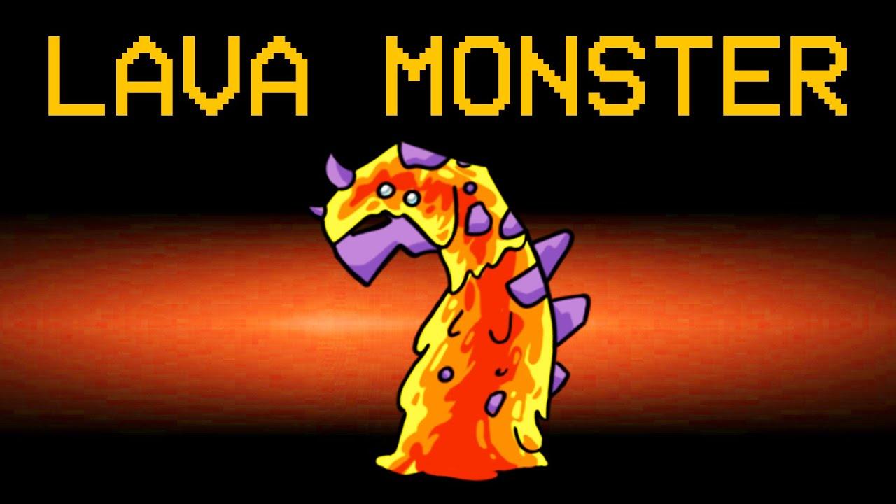 LAVA MONSTER Impostor Role in Among Us! (Skeld Lava Monster Mod)
