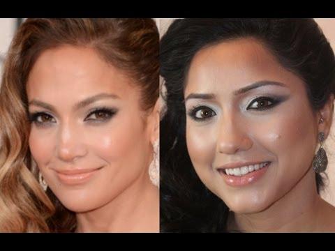 Jennifer Lopez Makeup Tutorial JLo Glow Golden Globes Inspired Look