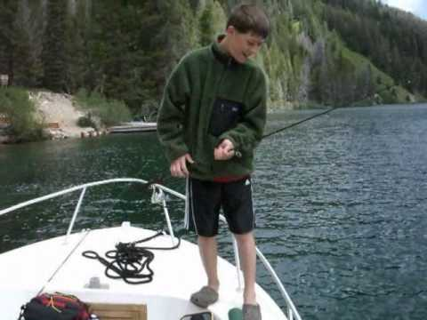 SHL catching a bull trout in ID.wmv