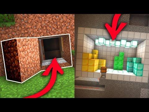 100% Hidden Base In Survival Bedrock Minecraft How To