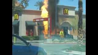 pickup truck propane tank explosion at McDonald