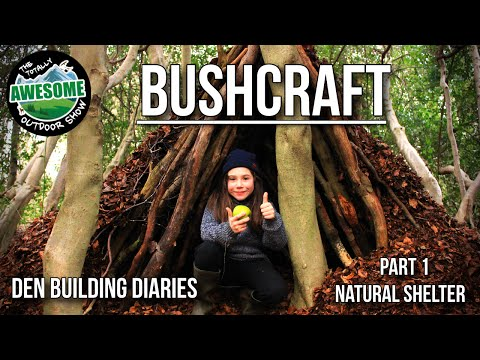 BUSHCRAFT: Den Building Diaries Part 1 - Natural Shelter | TA Outdoors