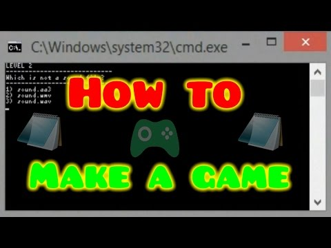 How to make a simple game in notepad