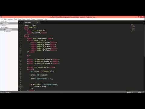 javascript, jQuery   selectedIndex property of select drop down