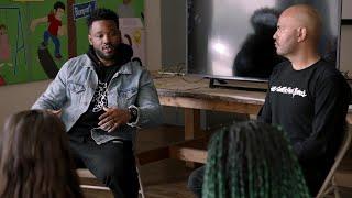 Black Panther - Ryan Coogler Surprises Students at Ghetto Film School Fellows Program