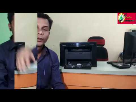 Canon MF3010 laser printer scanner copier review/toner change  in hindi