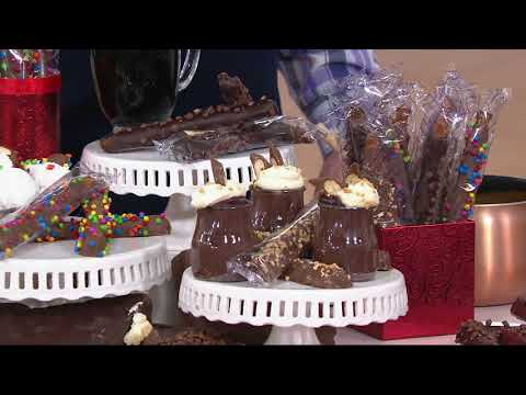 Mrs. Prindables 24-pc Caramel & Chocolate Dipped Pretzel Rod Assortment on QVC