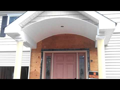 Portico & Front Porch Roof Vinyl Siding Installation - Bergen County NJ