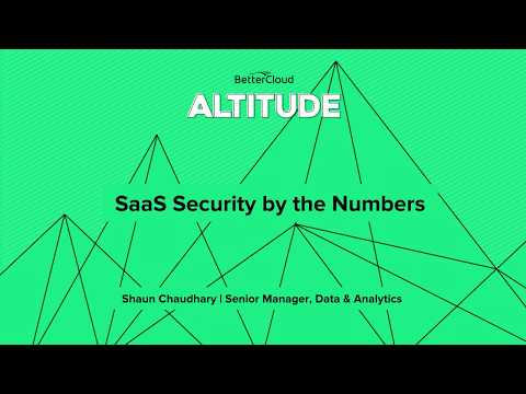 Altitude 2018: SaaS Security by the Numbers