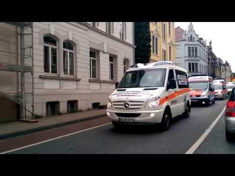Krankenwagen Demo in Bielefeld (29.06.2014)