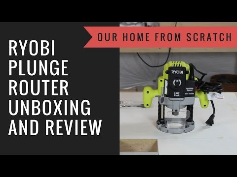 Ryobi Plunge Router Unboxing and Review