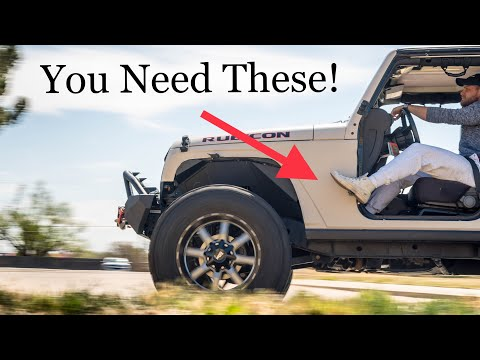 MUST HAVE MOD FOR DOORLESS JEEPS! Auxmart Foot Pegs