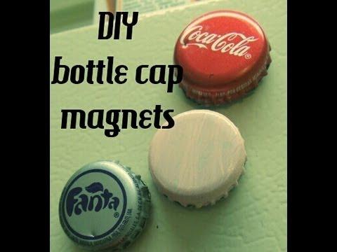 DIY bottle cap magnets