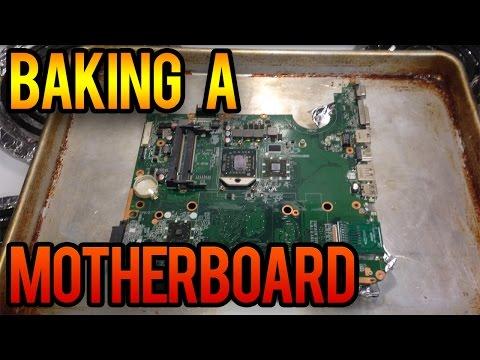 Baking My Laptop Motherboard!!