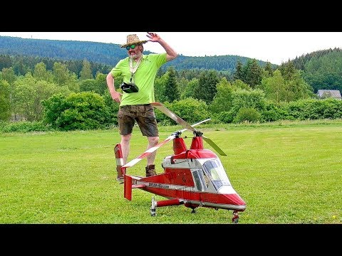 STUNNING AMAZING HUGE RC K-MAX 1200 COAXIAL SCALE MODEL TURBINE HELICOPTER FLIGHT DEMONSTRATION