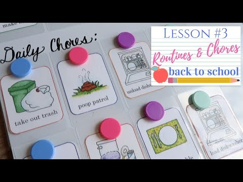 Kids Chore Chart | Clean With Me | Back To School 2017