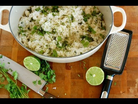 {Rice Recipe} Coconut Lime Cilantro Rice by CookingForBimbos.com