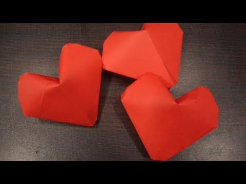 Origami puffy heart.