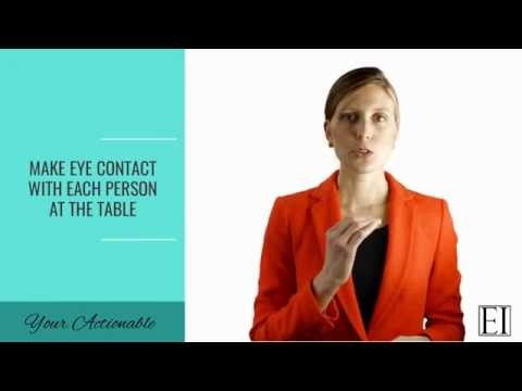How to Be a More Confident, Powerful Woman in Business - Body Language Tips
