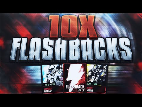 10x FLASHBACKS! BEST LUCK EVER! 7 96+ PULLS! - Madden Mobile 16