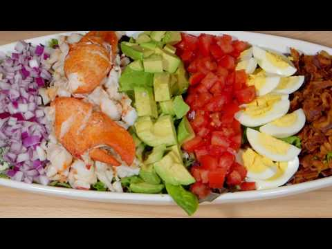 Cooking With Bruce - Lobster Cobb Salad with Roasted Red Pepper Dressing