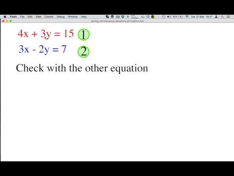 How to solve simultaneous equations using the elimination method