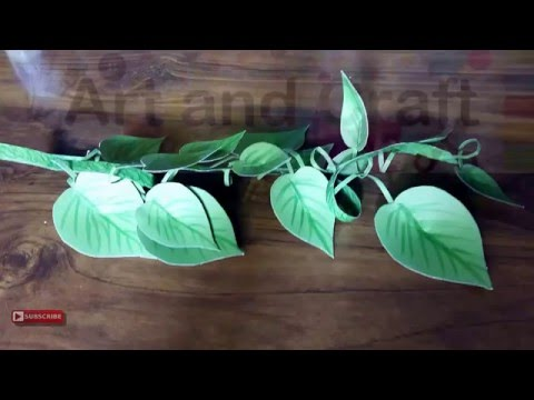 How To Make Craft Paper Money Plant Tutorial 2016
