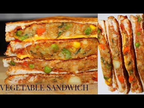 VEGETABLE SANDWICH RECIPE INDIAN STYLE/HOW TO MAKE MIXED VEGETABLE SANDWICH
