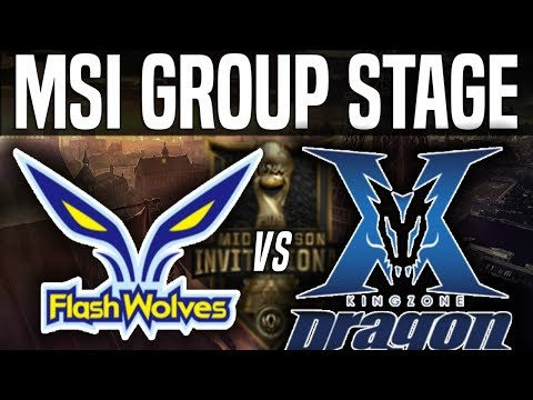 FW vs KZ - MSI 2018 Group Stage Day 5 - Flash Wolves vs Kingzone DragonX |League Of Legends MSI 2018