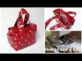 How to sew a Handbag - Step by Step Tutorial (Box Bag Pattern)