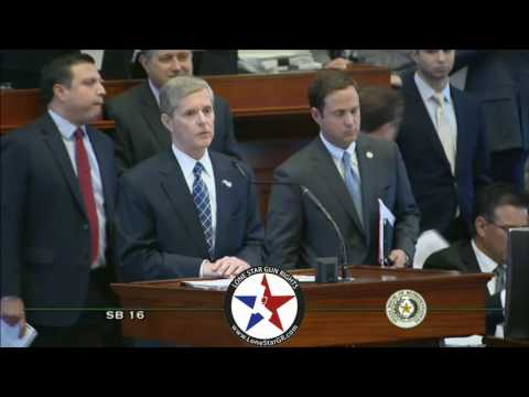 Texas State Rep. Phil King Admits LTC Fees are a Tax. SB16. 5/2/17