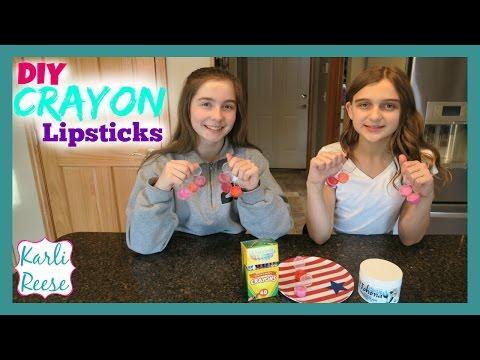 DIY CRAYON LIPSTICK or LIPGLOSS