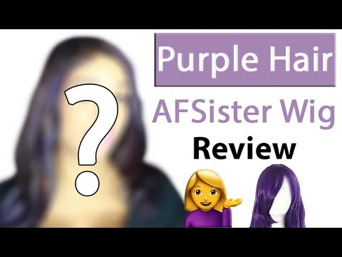 Purple Hair | Afsister Wig | Lace Front Wig Review
