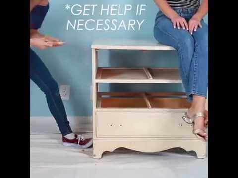 How to Make DIY - Recycled Dresser Storage Bench