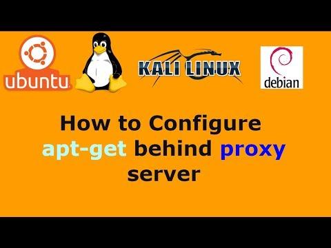 How to Configure apt-get behind proxy server