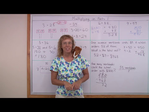 Mental math is easy: multiply 2-digit numbers with partial products (grade 4 math)