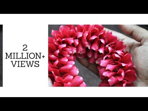 DIY | Bridal Rose petal Veni making