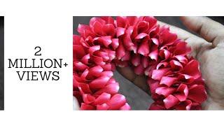 DIY   Bridal Rose petal Veni making