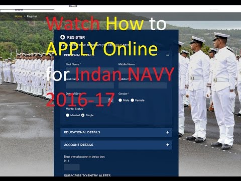 How to apply Indian Navy  2016-17