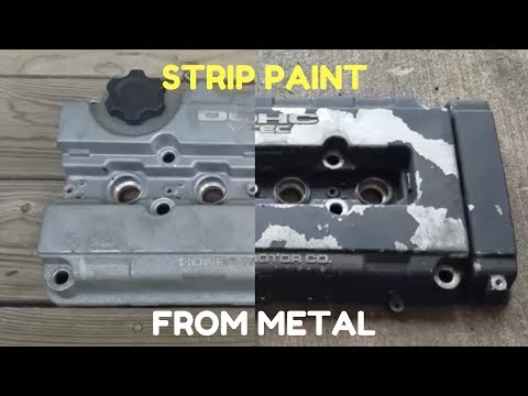 Remove Paint From Valve Cover (Metal)...EASY WAY!