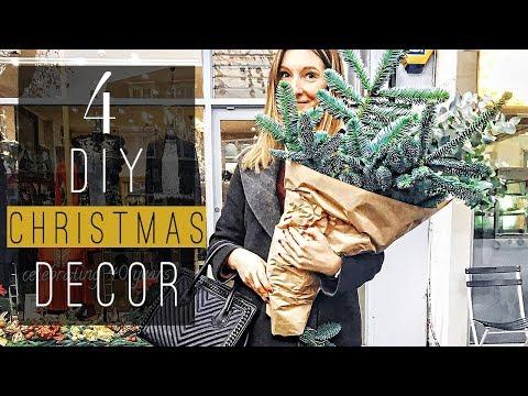 4 DIY Christmas Decorations I Greens & Sparkle Enchanted Room Decor DIYs for the Holidays