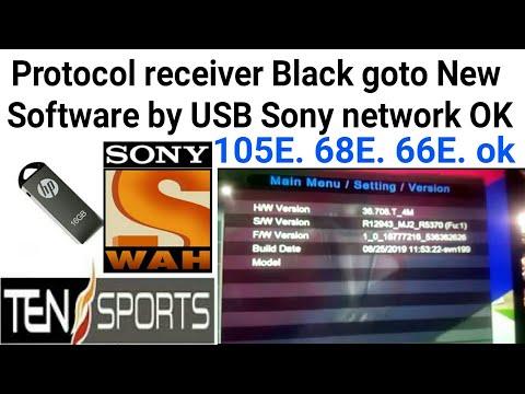Protocol receiver Black goto New Software Sony network OK by