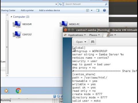 Samba Tutorial (Centos 7)  - samba share with password