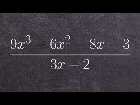 Using long division between two polynomials
